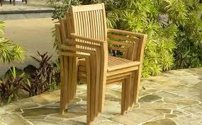 teak stacking garden chair