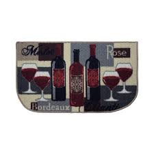 structures wine time 18 in x 30 in textured wedge shaped slice kitchen