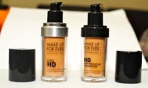 to the left ultra hd foundation in shade y405 right older n153