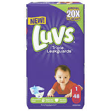 Luvs Size 4 Weight Chart Luvs Triple Leakguards Diapers Jumbo Pack Size 1