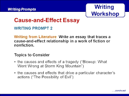 after reading writing from the real world write an essay in which  after reading writing from literature write an essay that traces a cause and effect