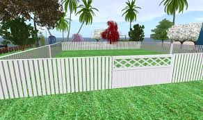 Second Life Marketplace White fence Cerca branca boxed by JJ Design