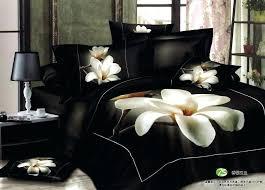 3d bedroom sets white orchid comforter bedding sets queen king size black quilt duvet cover bedclothes