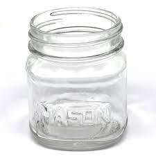 8oz Square Mason Jar - Aztec's Jar - Case of 12