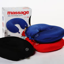 pillow massager. telebrand vibrating neck massager cushion for and shoulders pain travel pillow
