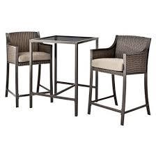 target patio bar set. Fine Patio Target Home Casetta 3Piece Wicker Patio Bar Height Bistro Furniture Set Opens In T