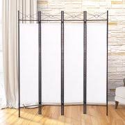 office room dividers. lazymoon 4panel steel room divider screen fabric folding partition home office privacy white dividers