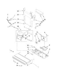Wiring schematic on maytag model mfi2665xew6 bottom mount refrigerator genuine parts on
