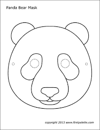 More seasons and celebrations coloring pages. Panda Mask Free Printable Templates Coloring Pages Firstpalette Com