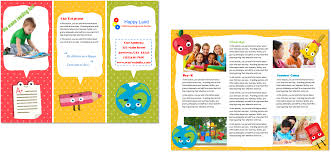 brochure child care brochure template latest child care brochure template medium size