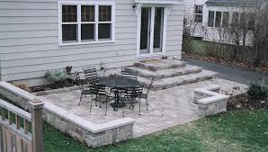 simple patio designs with pavers. Nice Stone Patio Ideas On A Budget Paver Sitting Wall And Firepit Patios Amp Decks Simple Designs With Pavers L