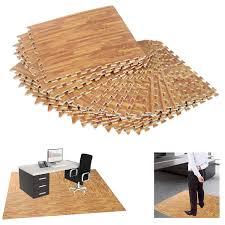 hom soft wood grain foam interlocking floor mats 72 square feet waterproof exercise workout mat kid