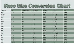 Shoe Sizes Conversion Chart Italian Shoes Shoe Size