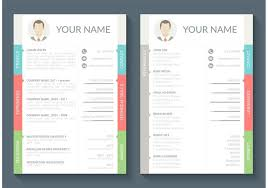 curriculum template curriculum vitae vector template download free vector art stock