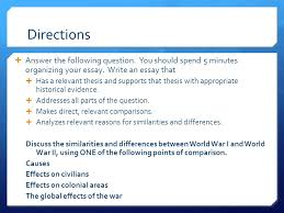 comparative essay present ppt directions answer the following question you should spend 5 minutes organizing your essay write
