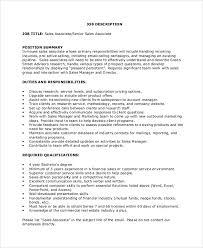 Sales Associate Qualifications Sample Sales Associate Job Dutie 6 Documents In Pdf