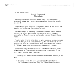 titanic essay gcse english marked by teachers com document image preview
