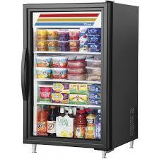 true gdm 07f ld 7 cubic foot glass door freezer merchandiser 1