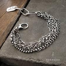 Oxidized sterling silver - bracelet, modern raw oxidized silver ...