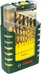 <b>Набор сверл</b> по металлу HSS-TiN (<b>1-10</b> мм; 19 шт) Bosch ...
