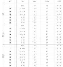 Precise Size 13 Jeans Size Chart Misses Petite Size Chart