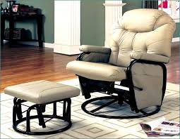image of swivel glider recliner with ottoman