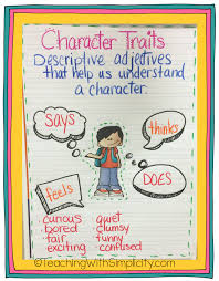 Character Traits Anchor Chart Anessa Mize Youngs Grove Elementary School