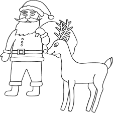 Small Picture Coloring Pages Santa Claus Coloring Pages Free and Printable