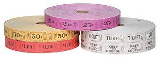 2 part raffle tickets paper raffle tickets