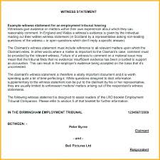 Court Witness Statement Template