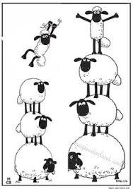 Small Picture Shaun the sheep by kite coloring pages for kids printable free