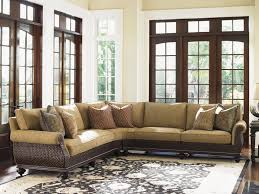 Rattan Living Room Furniture Tommy Bahama Home Island Traditions Westbury Sectional Sofa With