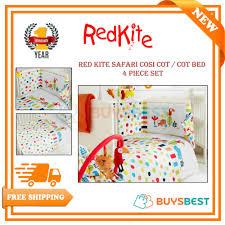 details about red kite safari cosi cot cot bed 4 piece set uni bedding bale cosicotsa