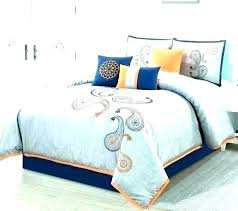 orange and blue duvet cover bright comforter sets full size set light king navy a