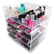 amazon sorbus 5 tier acrylic cosmetic and makeup storage case organizer home kitchen