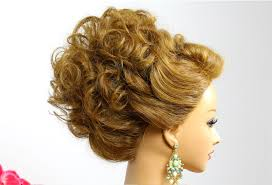 Wedding Hair Style Up Do hairstyle for medium hair wedding prom updo tutorial youtube 3785 by wearticles.com