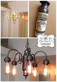 jillian daydream being frugal spray paint light fixture edison industrial looking chandeliers bulbs beautiful small kitchen