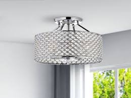 image of round chandelier ceiling fans