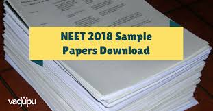Practice Paper Neet 2018 Sample Papers Download With Solutions Neet Model Papers