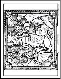 Small Picture Pentecost Coloring Page Holy Ghost Mary Apostles