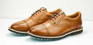 G Fore Size Chart Details About Peter Millar G Fore Brogue Brown Cog Gallivanter Golf Shoes Mf18ef02b