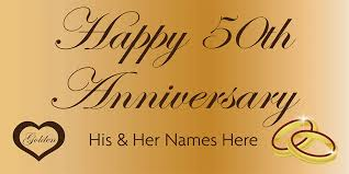 happy anniversary banners anniversary banner gold 50th