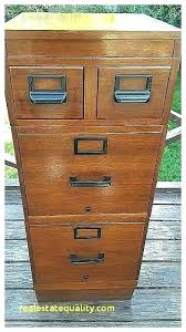 wood file cabinet with lock. Wooden File Cabinet Antique Wood Cool 4 Drawer 2 Cabinets Old  Filing With Lock