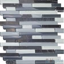 gray linear glass stone mosaic tiles vb gsl97