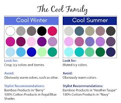 Warm Cool Color Chart Finding Your Color Season