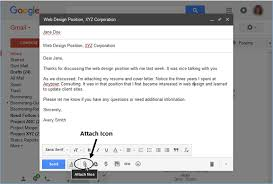 attach a resume to email in Gmail