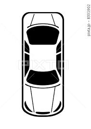 上から見た車のイラスト素材 8331902 Pixta