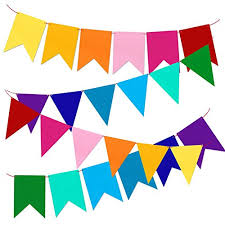 Pendant Banner Multicolor Bunting Pennant Banner Flags For Kids Birthday Party