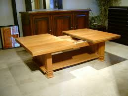 cherry mission style sliding top coffee table