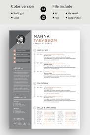 Manna Tabssom Modern Resume Template 75878